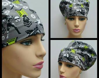 Mini - Chemo Cap - Nurses Hat - European Style - Star Wars The Force Awakens - Gray - 100 % cotton