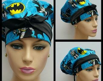 Woman Euro Surgical Cap - Star Wars - Batman Forever - Black - 100 % cotton