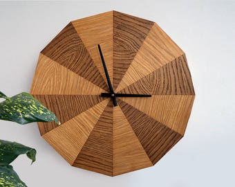 extra large modern wood wall clock