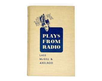 Vintage Book Plays From The Radio 1940s Hardcover Beige Cover