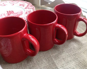 Waechtersbach Germany Red Coffee Mugs