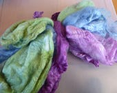 Hope Jacare - Just gorgeous approx 25g hand dyed silk hankies SH67