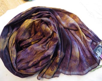 Hope Jacare Creative Textiles Hand dyed Hobra Raw Silk fabric approx 114 x 95 cm - RSF40