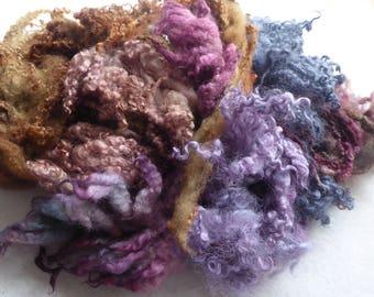 Great British hand dyed felting fleece pack - 100g - Bag 63