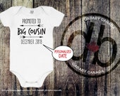 Pregnancy Announcement Personalized Promoted To Big Cousin - Cousin Custom Bodysuit - Soon To Be A Big Cousin - Birth Announcement Shirt