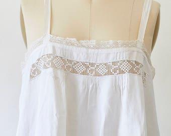 Vintage White slip dress Victorian