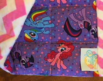 My Little Pony Small Calming Covers weighted lap blanket