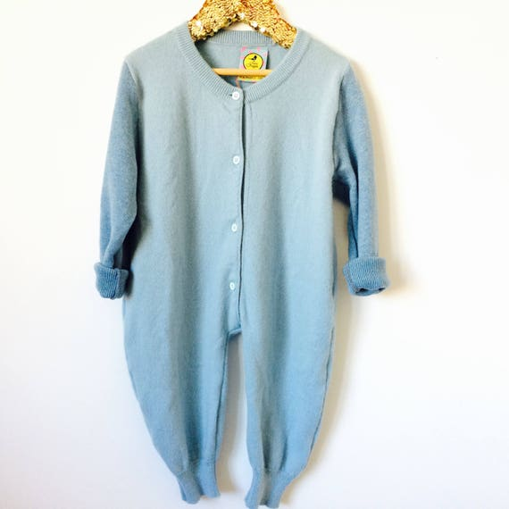 SLEEP 1-2 Years Baby Onesie Jumpsuit One Piece Jumper Romper Playsuit in Upcycled Unisex