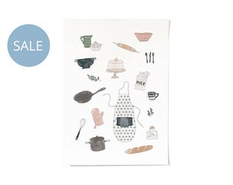 ON SALE! In The Kitchen Print A4