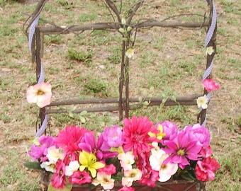 Grapevine Window Sill Wreath - Handmade Home Decor