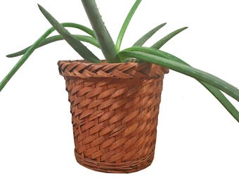 Rattan Basket Planter Sleeve