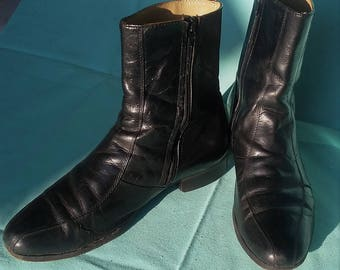 Mens black Leather Ankle Boots - Mens 7.5D