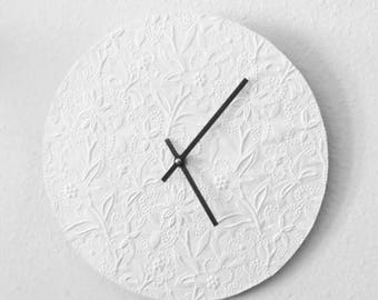 Wall Clock,  White Clock,  Decor and Housewares, Decor and Housewares, Home and Living,Unique Wedding Gift,
