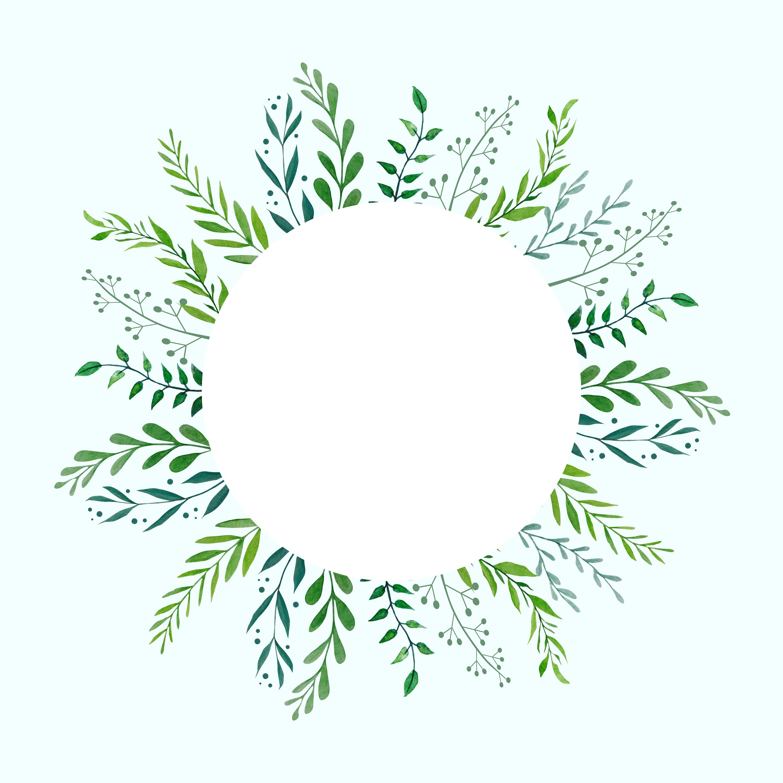 Botanical Wreath, Watercolor Wreath, Greenery Wreath, Wedding Clipart, Wedding Wreath, Green ...