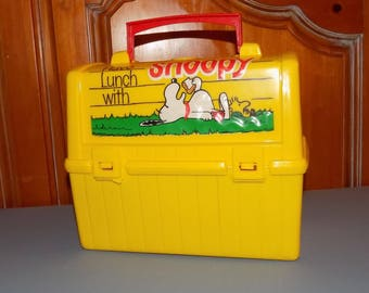 Yellow Snoopy Lunchbox