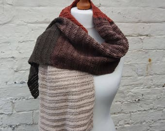 Linnet Wrap - Cotton Blend Scarf - Ready to Ship