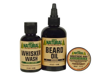 Sam's Natural - Beard Pack - Original - Gifts - Natural, Vegan + Cruelty-Free