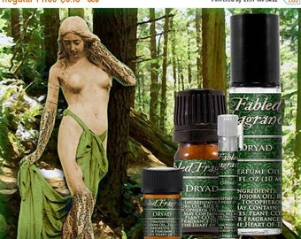SALE DRYAD Perfume: Forest Nymph, Sweet Grass, Crisp Rainforest, Earthy Oakmoss, Vegan Solid Perfume, Ships Out in 5-7 Days