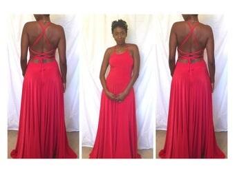 Stunning Strappy Back Circle Maxi Dress