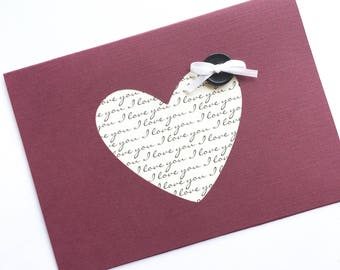 Heart Valentine's Day Card **READY TO SHIP**