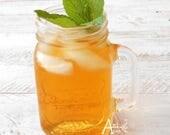 Herbal Tea, MIDNIGHT MINT, Organic, Green Rooibos and Mint Leaves, Iced Tea, No Flavors Added, Caffeine Free, Earth Friendly Box, Mint Julep