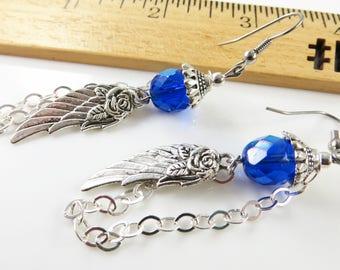 Small angel wing earrings