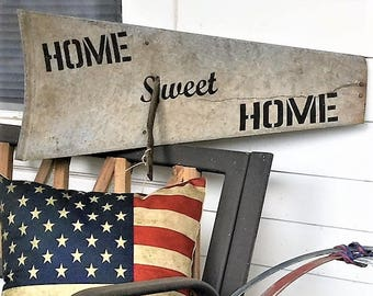 Home Sweet Home Windmill Blade Decor/Authentic 1930's Windmill Blade/ Rustic Wall Decor