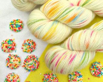 100g Australian Sock Yarn - Fairy Bread
