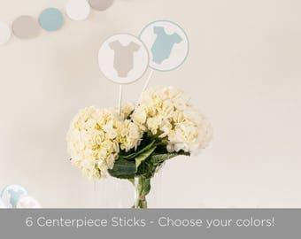 6 Baby Shower Centerpiece Sticks,  Baby Shower Decorations