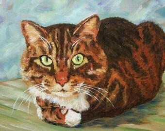 Tabby Cat - my original acrylic painting