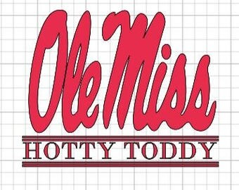 Ole Miss~Sorority~Hotty Toddy~ Mississippi~Decal