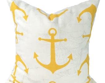 BEACH Decor, 14x14 inch Yellow Pillows, Pillow Cover, Decorative Pillow, Throw Pillow, Pillows, Accent Pillow, Pillow Covers,  Cushion