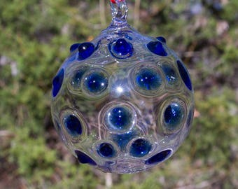 OOAK Hand blown Borosilicate Glass Christmas ornament 202