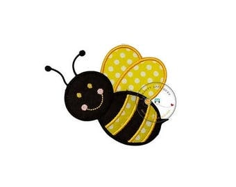 ON SALE NOW bumble bee iron on patch, bright yellow and black machine embroidered heat press patch for clothing, quick shipping appliques, p