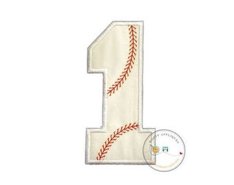 ON SALE NOW Large baseball number-Iron on embroidered fabric applique patch embellishment- ready to ship