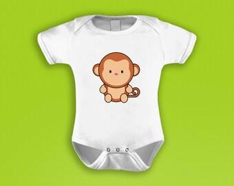 Cheeky Monkey Baby Grow / Bodysuit