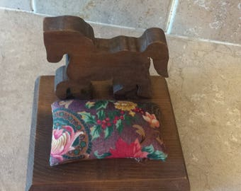 Wood horse with pin cushion pillow. cute gift
