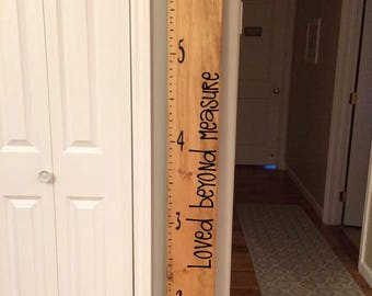Loved Beyond Measure - Growth Chart Vinyl Decal