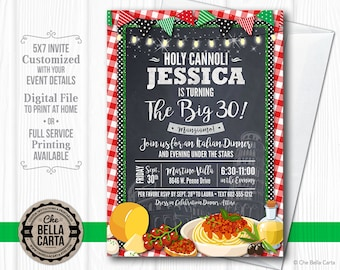 Italian Dinner Themed Party Invitation