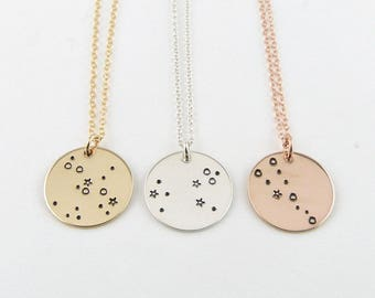 Zodiac Jewelry, Constellation Necklace, Birthday Gift, 12 Zodiac Signs Necklace, Gold zodiac Necklace, Astrology jewelry, Zodiac Sign