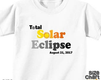 SALE Total Solar Eclipse August 21, 2017 Family T-shirts Shirt Baby Bodysuit Adult Mom Dad Baby Kids Boy Girl Sibling Eclipse Party Shirts