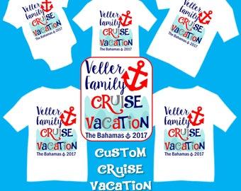 Custom Personalized Cruise Family Vacation T-shirts Shirt Baby Bodysuit Mom Dad Baby Kids Boy Girl Cruise Family Vacation Trip Shirt