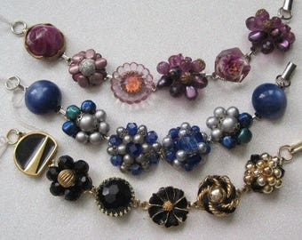 Handmade Jewelry, Bracelets, Hand Designed, Repurposed, Upcycled Vintage, Assemblage, Ooak, Gift Giving, Bridesmaid Gofts