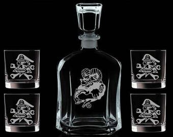 personalized decanter set chief petty officer promotion gift cpo pinning sponsor gift chief petty officer
