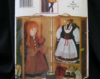 Doll Trunk Pattern, Vogue 613 or 9688, hinged trunk with handles and compartments, smaller accessory boxes with lids, Vogue Doll Collection