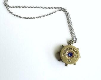 Ship Wheel Nautical Necklace - Winchester - Nautical Necklace - Bullet