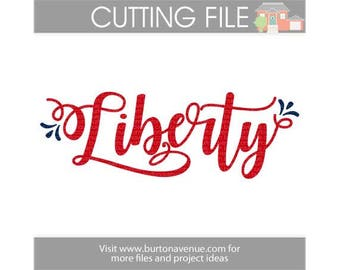Liberty cut file for Cricut, Silhouette, Instant Download (eps, svg, gsd, dxf, ai, jpg, and png)
