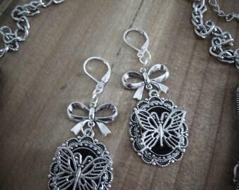 Cameo earrings felt Butterfly ♠ Fairytale ♠