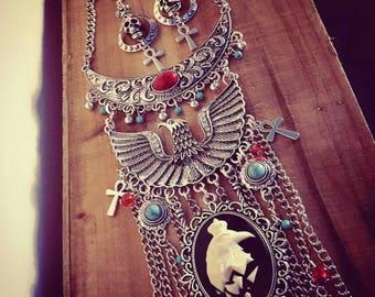 Necklace chains silver boho chic Harry Potter phoenix ♰Serdaigle♰