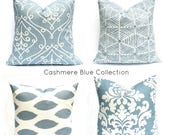 15% Off Sale Blue Pillow, Blue throw pillow,  Decorative pillow Throw pillow, Accent pillow,  couch pillow, french country decor,  damask pi